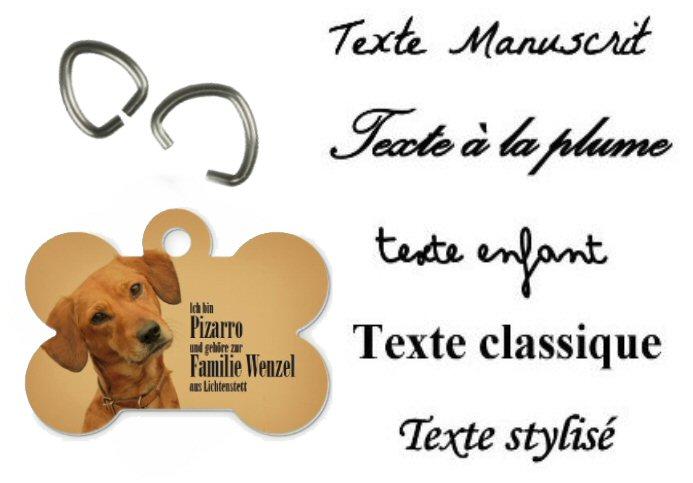pendentif os personnalis u00e9 avec une photo pour collier de chien  id u00e9al pour mettre le nom du chien