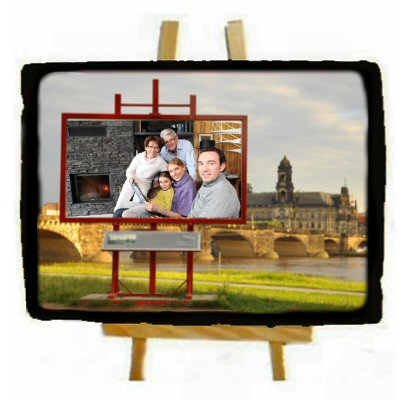 ardoise photo rectangulaire