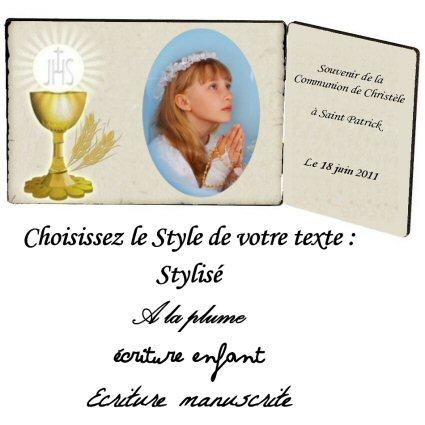 plaque bois photo avec le theme de la communion en cadeau ...