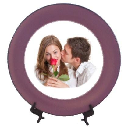 assiette personnalise avec une photo de famille pour une idee cadeau originale une assiette. Black Bedroom Furniture Sets. Home Design Ideas