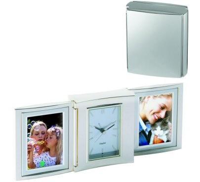Cadre photo design avec une horloge