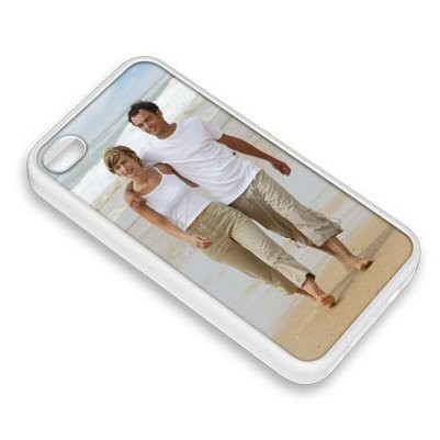 Coque photo pour iphone 4 ou 4S blanche.