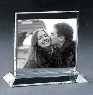 Plaque moyenne rectangle photo laser