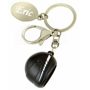 Porte clé gravé casque de moto
