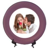 Assiette personnalise tour violet