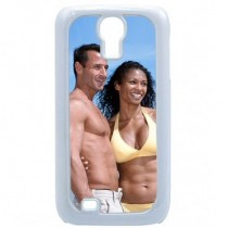 Coque photo  pour galaxy S4 blanc
