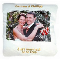Coussin blanc personnalise