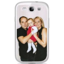 Coque blanche photo pour galaxy S3