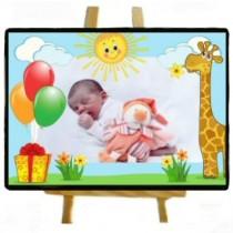 Ardoise personnalisée girafe