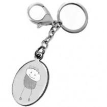 Le porte clés gravé avec le dessin de votre enfant