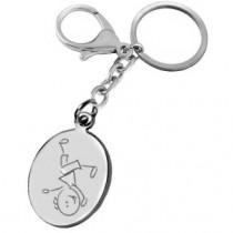 porte clés gravé avec un garçon cabriole