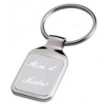 Porte clé rectangle gravé texte