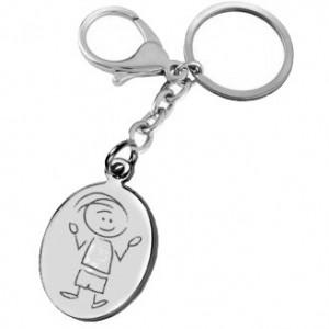 porte clefs gravé avec un garçon étonné