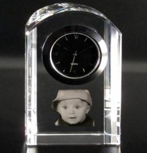 Horloge arrondi photo laser