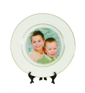 Petite assiette photo personnalisée