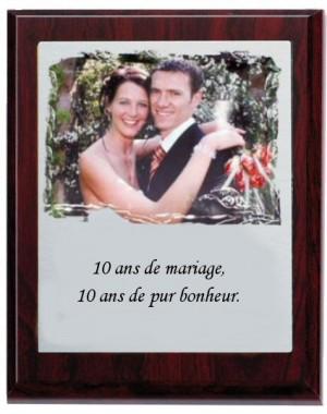 Plaque photo prestige argenté ronce.