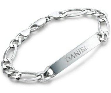 gourmette gravée et bracelet
