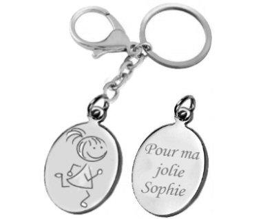 gravure porte clés personnage