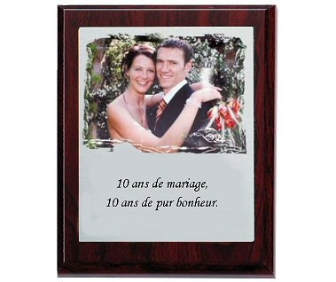 Plaque photo prestige
