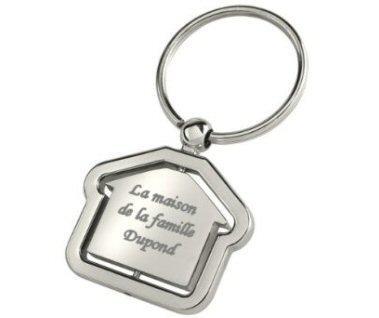 Porte clés gravé avec un texte